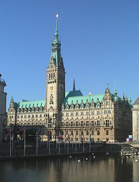 View of the Rathaus as seen