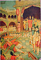 Ravana fails to string the bow, in preparation for the archery contest among the suitors for Sita.jpg