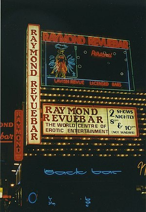 Paul Raymond (publisher) - The Raymond Revuebar in Walker's Court. (1997)