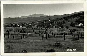 Stari Trg pri Ložu - 1960s postcard of Stari Trg pri Ložu