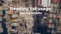 Reading list usage - survey results.pdf