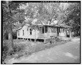 Rear side view of 514 Lindsey Lane - 514 Lindsey Lane (House), Sumter, Sumter County, GA HABS GA,131-AMER,11-4.tif