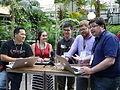 Recording Wikipedia Weekly at Wikimania 2014 hackathon day 1.jpg