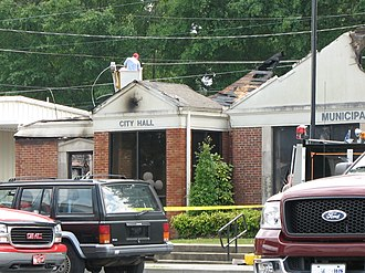 Red Bay, Alabama - City Hall After Fire
