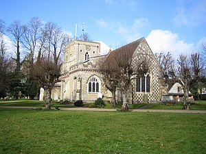 Richard Reade - Reade was buried at St. Mary's Parish Church,  Redbourn
