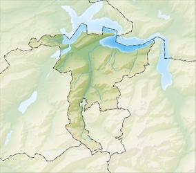 Reliefkarte Nidwalden blank