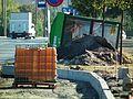 Repair of bus stop, Poznan, os. Powstancow Warszawy (4).jpg