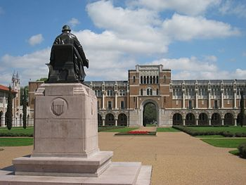 Rice University, Houston, Texas, USA - Statue ...