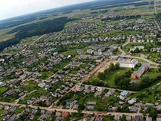 Rietavas City in Samogitia, Lithuania
