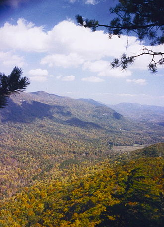 Jones Gap State Park - Vista, Rim of the Gap Trail, late October.