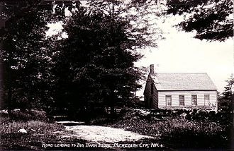 Meredith, New Hampshire - Street scene in Meredith Center c. 1912