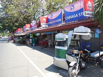 Caoayan - A series of roadside eateries just outside of the town's parish church in Caoayan, Ilocos Sur