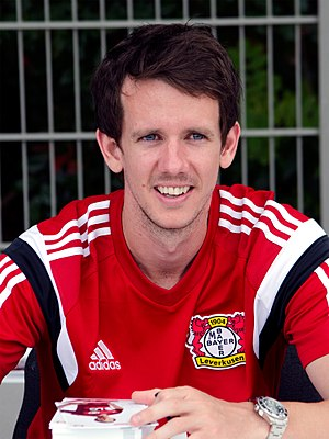 Robbie Kruse - Kruse with Bayer Leverkusen in 2015