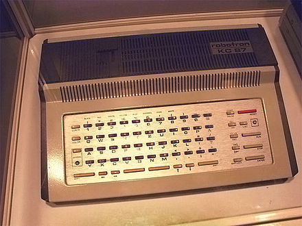 A Robotron KC 87 home computer made in East Germany between 1987 and 1989 Robotron.jpg