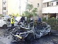 Rocket hitting car Beer Sheva 2012 02.jpg