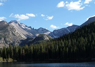 """View from <a href=""""http://search.lycos.com/web/?_z=0&q=%22Bear%20Lake%20%28Colorado%29%22"""">Bear Lake</a> in Rocky Mountain National Park"""
