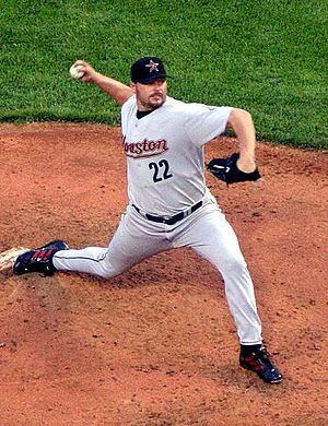 Roger Clemens - Clemens pitching for the Astros in 2004
