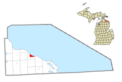 Location within Presque Isle County