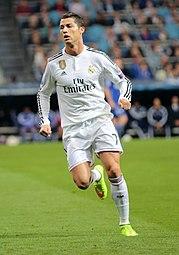 Ronaldo durante la partita giocata contro lo Schalke 04 in Champions League nella stagione 2014-2015