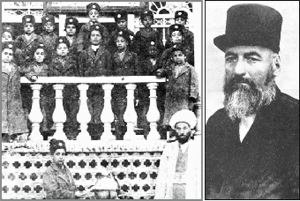 Haji-Mirza Hassan Roshdieh - An Image of Hassan Roshdieh with his students.
