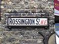 Rossington Street sign Upper Clapton E5, London NE.jpg