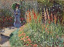 Rounded Flower Bed by Claude Monet, 1876.jpg