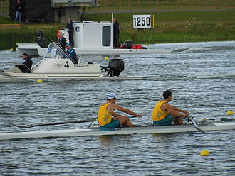 Australia at the 2012 Summer Olympics - Australia during the final of the men's coxless pair.