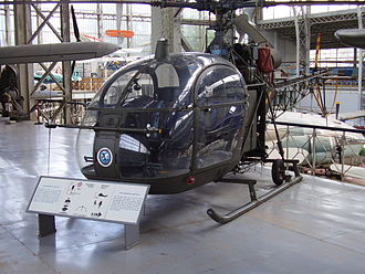 Mountjoy Prison helicopter escape - An Aérospatiale Alouette II, the type of helicopter used in the escape