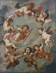 Putti: a ceiling decoration