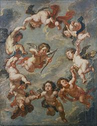anonymous: Putti: a ceiling decoration