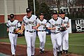 Russ Chandler Stadium GT baseball players (12547187543).jpg
