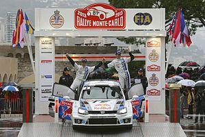 2013 Monte Carlo Rally - Sébastien Ogier during Podium