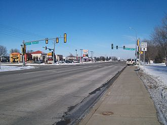 South Dakota Highway 11 - SD 11 intersects Holly Boulevard and Sylvan Circle in Brandon.