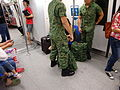 SG MRT interior visitors uniform male army soldiers Jun-2015 DSC.JPG