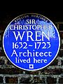 SIR CHRISTOPHER WREN 1632-1723 Architect lived here.jpg