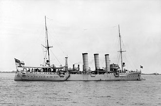 Bremen-class cruiser - Bremen visiting the United States in 1912