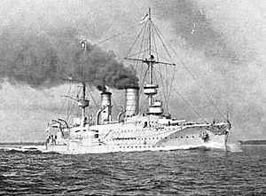 SMS Prinz Heinrich - Prinz Heinrich steaming at high speed