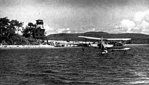 Port Havannah - An SOC Seagull at Havannah Harbour Efate 1943