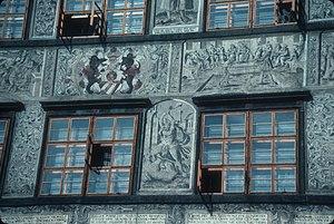 William of Rosenberg - The salt house built at Prachatice (South Bohemia) in 1571. Note his name WILHELMUS ROSENBERG in the central fresco.