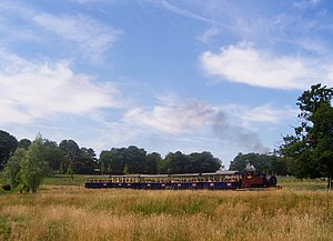 Great Whipsnade Railway - Kerr Stuart 0-6-2T Baretto Class No. 4 'Superior' and train