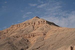 Meretseger - Image: S F E CAMERON 2006 10 EGYPT WESTBANK 0064