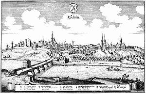 Saalfeld - Saalfeld, Matthäus Merian, about 1650