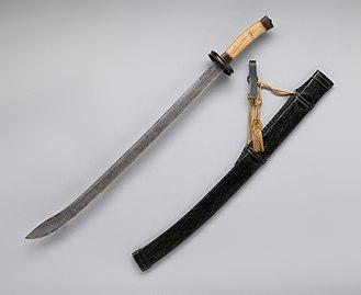 Dao (sword) - Image: Saber with Scabbard and Belt Hook (清 腰刀) MET DP 834 001