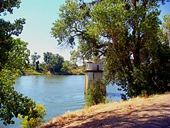 The Sacramento River near the old pumping station