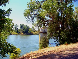 Sacramento River - Sacramento River from the old pumping station in Sacramento, California