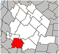 Saint-Damase (Montérégie) Quebec location diagram.PNG