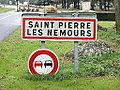 Saint-Pierre-lès-Nemours-FR-77-panneau d'agglomération-01.jpg