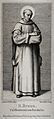Saint Bruno. Steel engraving by H. Nüsser after A. Müller. Wellcome V0031750.jpg