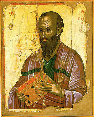 Timeline of Orthodoxy in Greece (33–717) - Icon of Apostle Paul, Apostle of Greece and Cyprus.