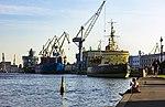 Saint Petersburg. Old Icebreaker Krasin (on front) and New Icebreaker Ural (on back).jpg